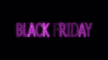 huge sale : pink black friday text electric mark glow end offset  animation for advertise and banner