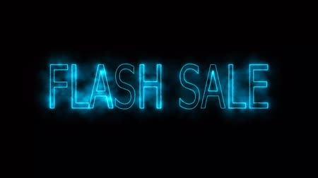 por cento : flash sale blue haze mark glow end offset for banner and advertise Stock Footage