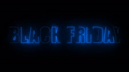 black friday text electric mark glow end offset for banner and advertise