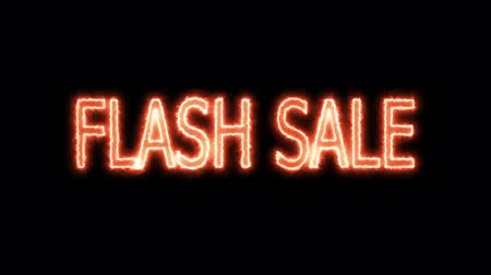 flash sale orange red energy mark glow end offset for banner and advertise