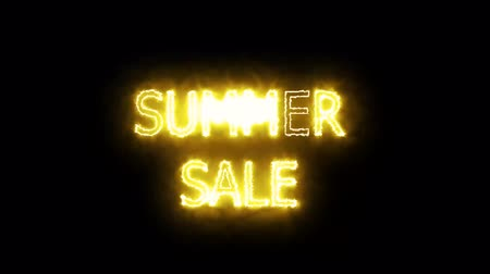 uithangbord : summer sale solar mark glow end offset 2 second for banner and advertise Stockvideo