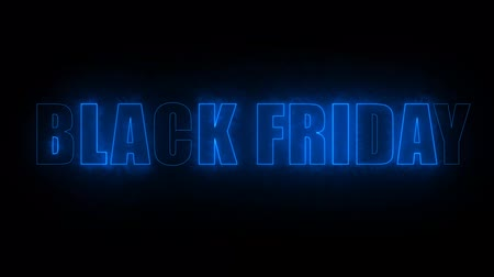 cartelloni : black friday text electric mark glow end offset