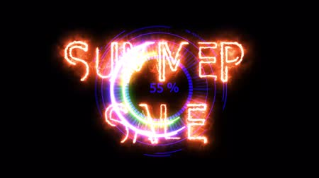 hız göstergesi : Digital meter power energy electric purple summer sale for banner and analysis advertise Stok Video