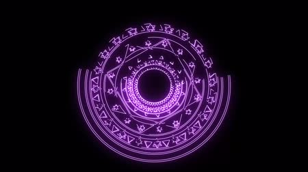 fluorescent : magic six star light purple energy rotate slow appear for banner and analysis advertise