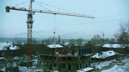 housing problems : Dawn on the construction site