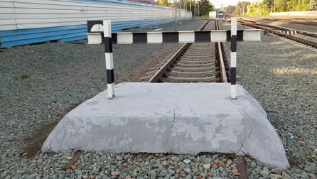 tampon : Railroad buffer end to destination
