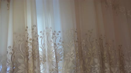 devanear : video curtains with cornice and white ceiling.