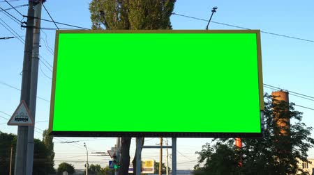 billboards : Blank billboard with green chroma key.