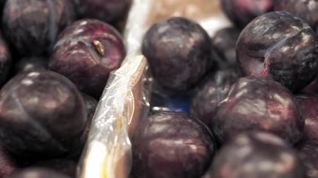 emtia : plums on the market Stok Video