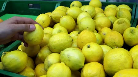 afdeling : buying lemons fruit buyer in the store