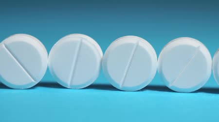 aspiryna : white pills close-up. medical concept. prevention of viral diseases macro