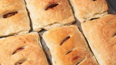 houska : baked buns with Apple and cinnamon ready meal close up