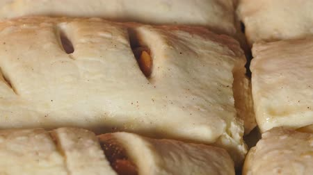 pastelaria : puff buns close-up. Baking in the oven. Baked and rouge time Lapse. homemade cake Stock Footage