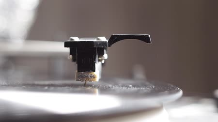 rock album : close up image of old record player, retro filtered . selective focus. retro-style