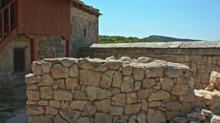 deteriorated : Stone walls of the old house.