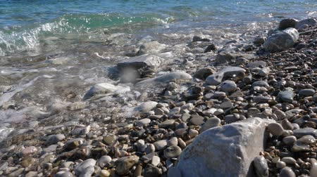adriyatik : Slow motion of waves on pebbles.