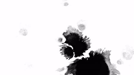 Black blots on a transparent background