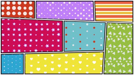 comics pop : Pop art pattern background