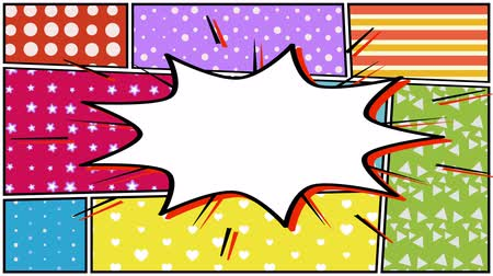 popart : Comic background with place for the inscription. Wideo