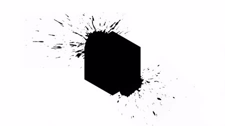 abridor : Logo Background - Ink Hexagon with blots
