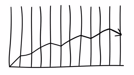 wykres kołowy : Infographic element - arrow growth graph. Wideo
