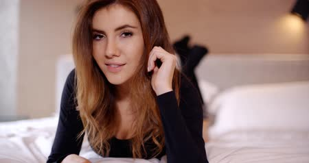 sock : Sensual Girl Relaxing in Her Bedroom