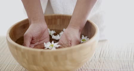 aroma : Female Hands With Bowl Of Aroma Water