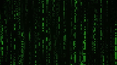 vertical : Falling Matrix Digital Green Dots Loop Motion Background