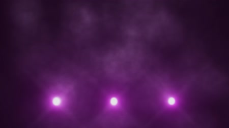 veludo : Purple Triple Stage Lights Below and Smoke VJ Loop Background
