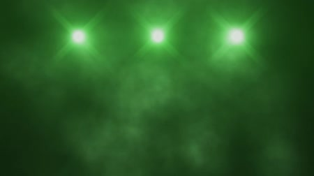 ztrojnásobit : Green Triple Stage Lights and Smoke VJ Loop Background