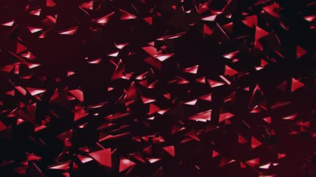 félrebeszél : 3D Red Flying Abstract Triangles Loopable Motion Background