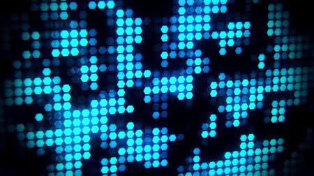 статья : Blue Glowing Neon Hexagons Abstract Motion Background VJ Loop Стоковые видеозаписи