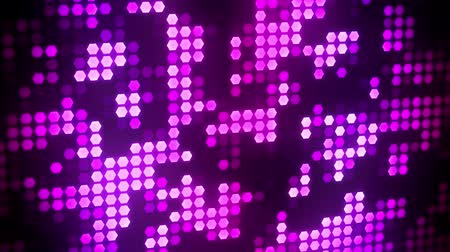purpurový : Purple Glowing Neon Hexagons Abstract Motion Background VJ Loop