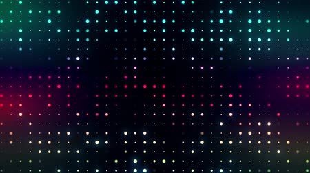 quantum computer : Colorful Glowing Digital Dots Code VJ Loop Motion Background Stock Footage