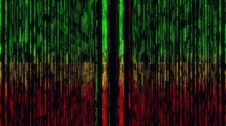 quantum computer : Colorful Glowing Matrix Grid Lines VJ Loop Motion Background Stock Footage