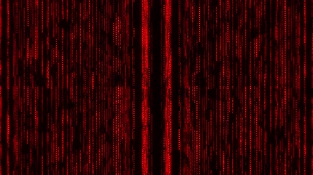 quantum computer : Red Glowing Grid Lines VJ Loop Motion Background Stock Footage