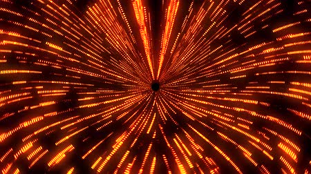 buco : Orange Matrix Wormhole Vortex Tunnel VJ Loop Motion Background