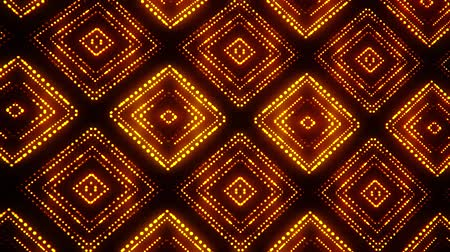 článek : Gold Led Particles Squares Abstract VJ Loop Motion Background
