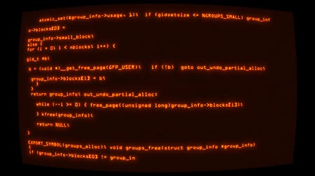 cifrado : Orange Hacker Text Code on Screen Graphic Element Background