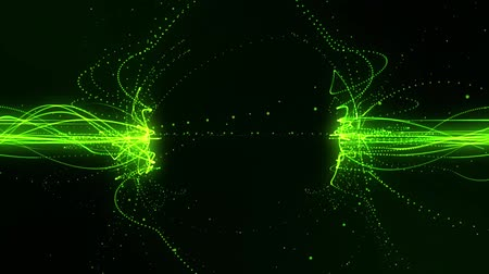 Green Flowing Lines in a Magnetic Field Loopable Motion Background