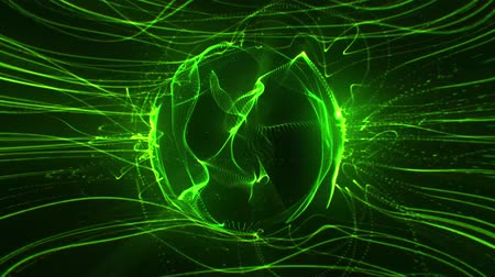 Green Energy Flow in a Rotating Vortex Abstract Loopable Background Стоковые видеозаписи