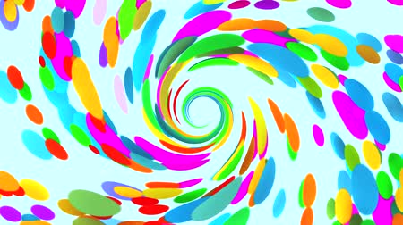 fond coloré : Vortex de couleurs VJ Loop Abstract Motion Background
