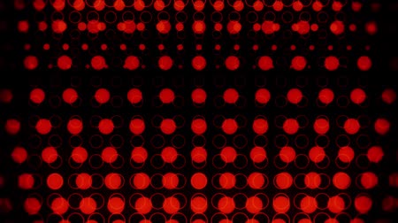 spots : Red Glowing Neon Circles Abstract Motion Background VJ Loop