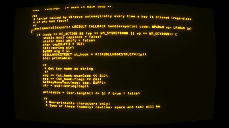 program : Yellow Hacker Text Code on Screen Graphic Element Background