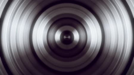 concêntrico : White Round Circular Waves Tunnel VJ Loop Motion Background Vídeos