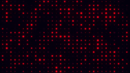 Red Glowing Digital Dots Code VJ Loop Motion Background