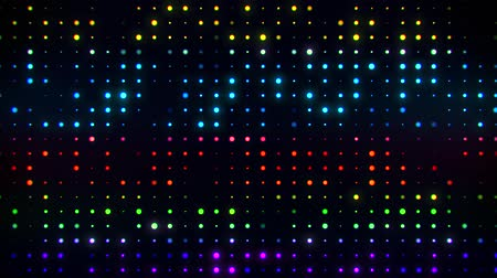 techno : Colorful Glowing Digital Dots Code VJ Loop Motion Background Stock Footage