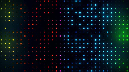 Colorful Glowing Digital Dots Code VJ Loop Motion Background Archivo de Video