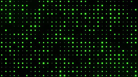 Green Glowing Digital Dots Code VJ Loop Motion Background Archivo de Video