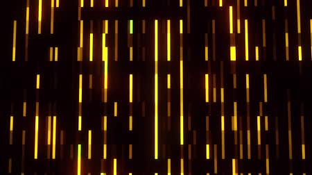 Gold Glowing Digital Neon Lines VJ Loop Motion Background Стоковые видеозаписи